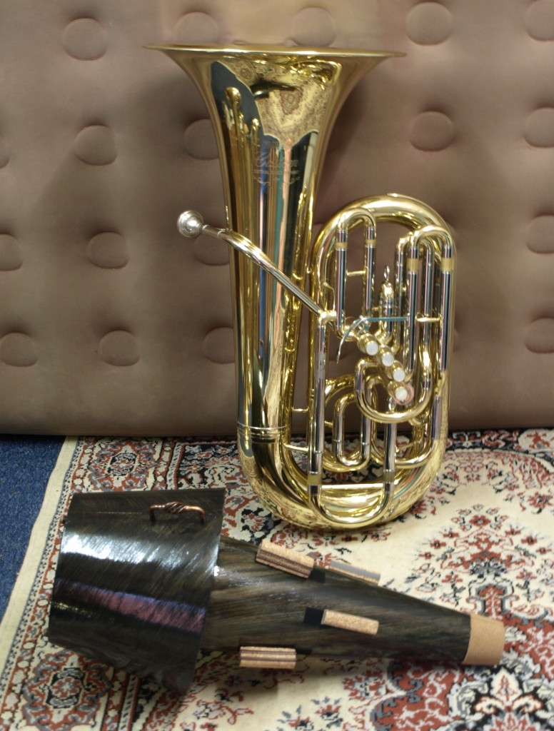 Yamaha 822 Custom F Tuba and Ion Balu Mute